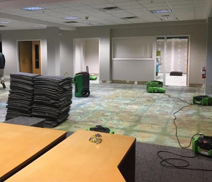 Commercial Building's Carpeting Removed After