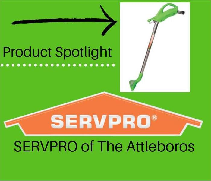 SERVPRO branded logo and photo of extraction device